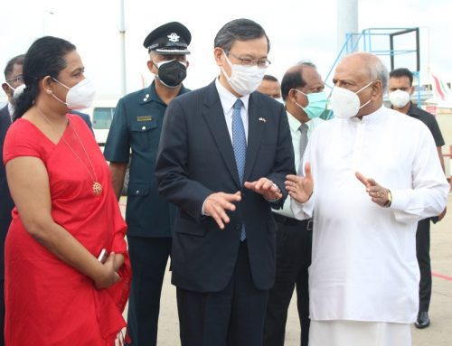 THE FIRST CONSIGNMENT OF ASTRAZENECA VACCINES RECEIVED FROM JAPAN AT THE REQUEST OF THE PRESIDENT ARRIVED IN SRI LANKA DAY BEFORE YESTERDAY