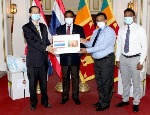 THAILAND DONATES COVID-19 RELATED MEDICAL EQUIPMENT TO SRI LANKA