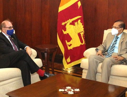 FRENCH AMBASSADOR PAYS COURTESY CALL ON FOREIGN MINISTER PEIRIS